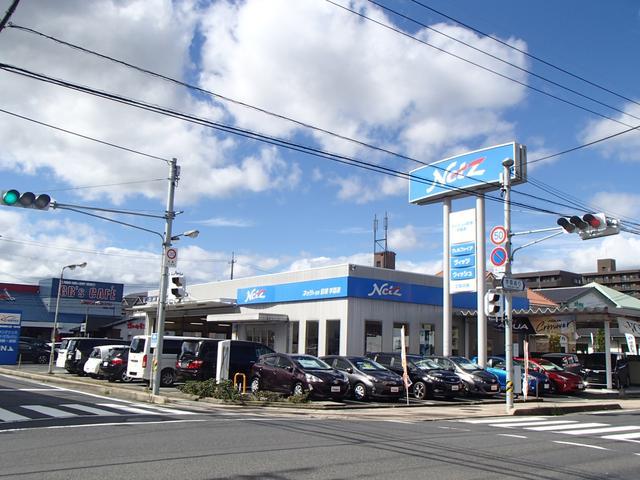 学園通店です♪通りから見える大きな青い看板が目印です♪
