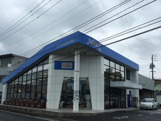 9号沿い 珍しい形の店舗設計!青色ネッツの大きな看板が目印です♪