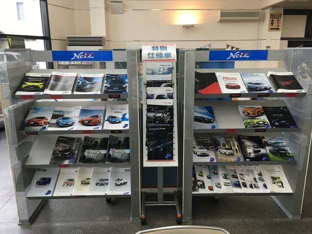 新車のカタログは勿論!U−Car情報もそろえております♪