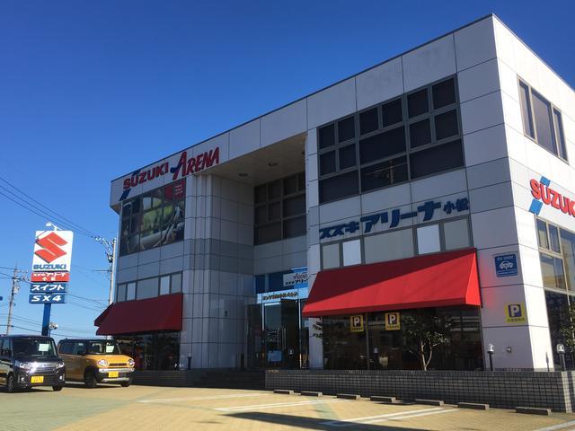 国道305号線沿い・上小松交差点の角に本社がございます。スズキアリーナの看板が目印です。