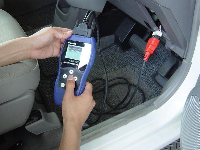 電子制御された自動車の不調原因をコンピューター診断機により,正確に特定することができます!