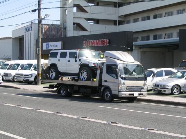 ハマーH2・スタークラフトG−VAN等ビッグサイズのお車も積載できるキャリアカーを常時完備!!!