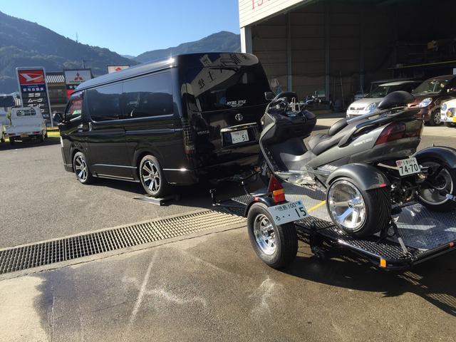 トライクは専用トレーラーで納車・引取り可能ですw