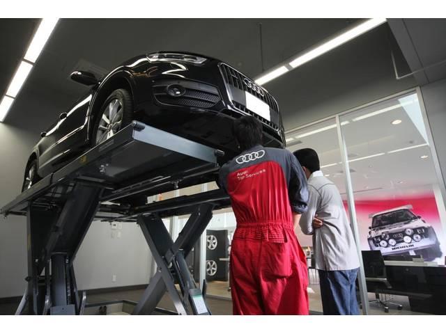 Audiのプロの整備士がお客様のお車を点検整備致します。万が一の場合も1年間の無料保証をご用意。