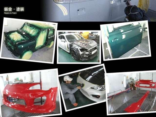 エアロの塗装、取り付け、取り寄せ、全塗装、保険修理、事故修理、なんでも相談してください
