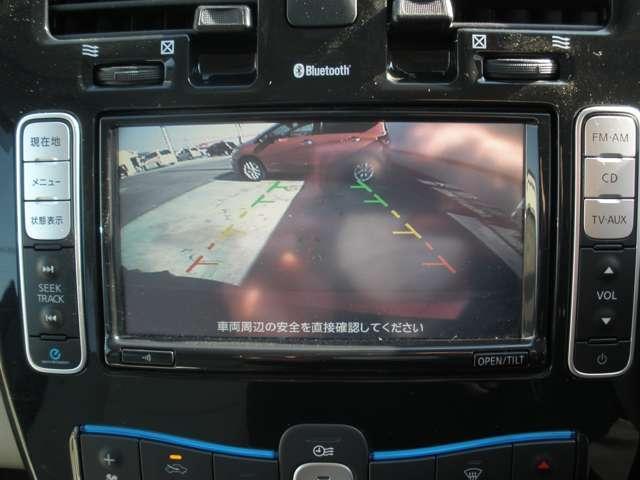 車両後方をモニターに映すバックビューカメラを装備しています