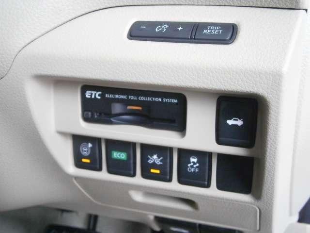 ETCユニットはこちらになります。エマージェンシーブレーキ搭載車です