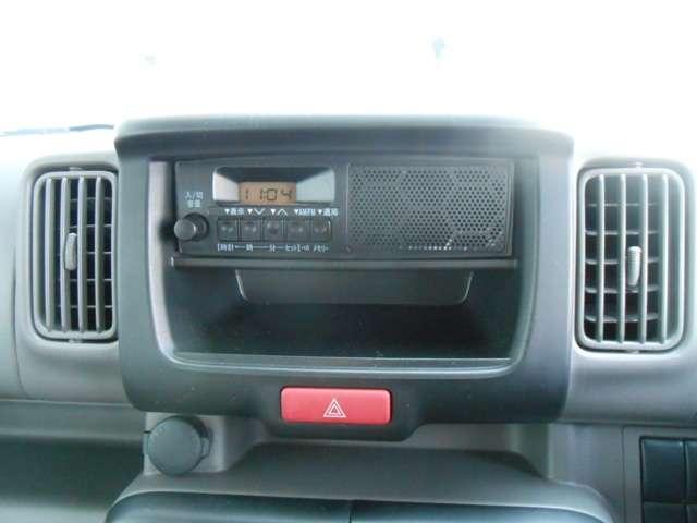 FM/AMラジオが付いています。