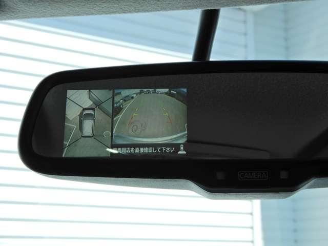 防眩ルームミラー♪実はアラウンドビューモニターの映像も映せます。