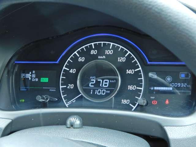 e-POWER専用のメーターで運転中も必要な情報が見やすくなっています