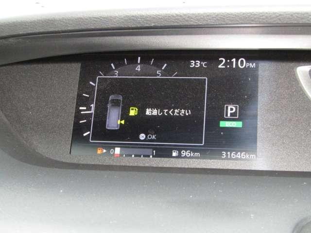 衝突被害軽減ブレーキ、車線逸脱警報、各種設定ができます。31,646Km走行です。