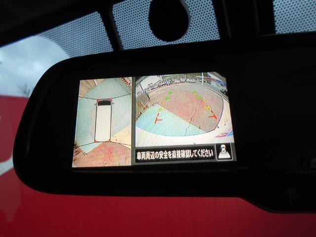 アラウンドビューモニターは、ルームミラーにも選択表示可能です!