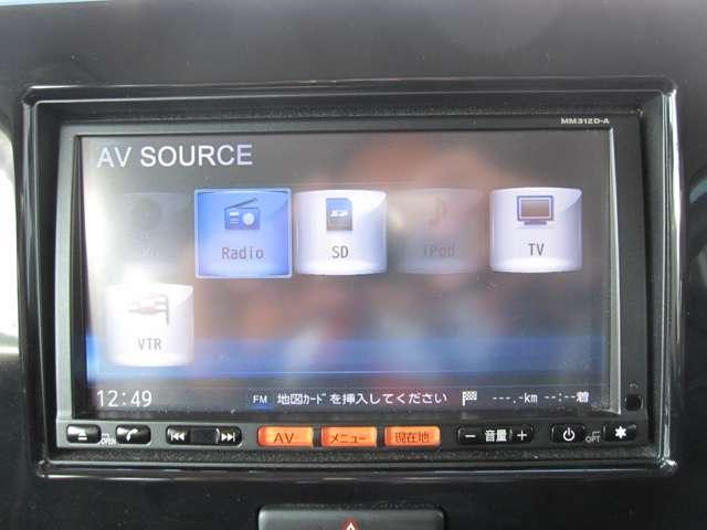 シンプルで使い易い 純正ナビTV 音楽録音や携帯ハンズフリー通話など機能多数