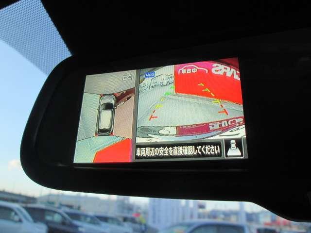 駐車が苦手な方でも安心!上空から見下ろすような映像をモニターに映し出されるので安全に駐車可能!アラウンドビューモニター付き♪