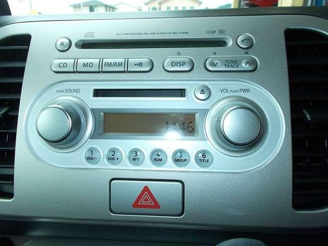 オーディオ付きです。ラジオやCDを聴きながら運転する事ができます。