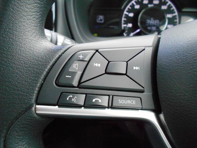 ステアリングスイッチ搭載で目線を移さず、手元でオーディオのチャンネル変更、音量調整等が出来、。