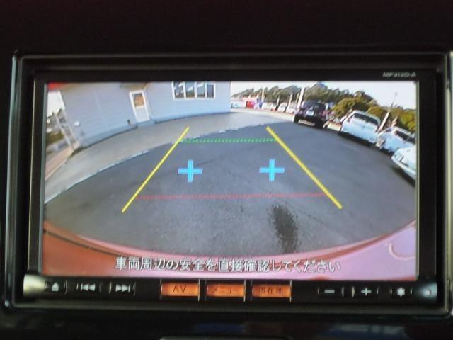 バックモニター付きなので、車庫入れもらくラク♪バックでの駐車が苦手な方には大変便利な機能です。