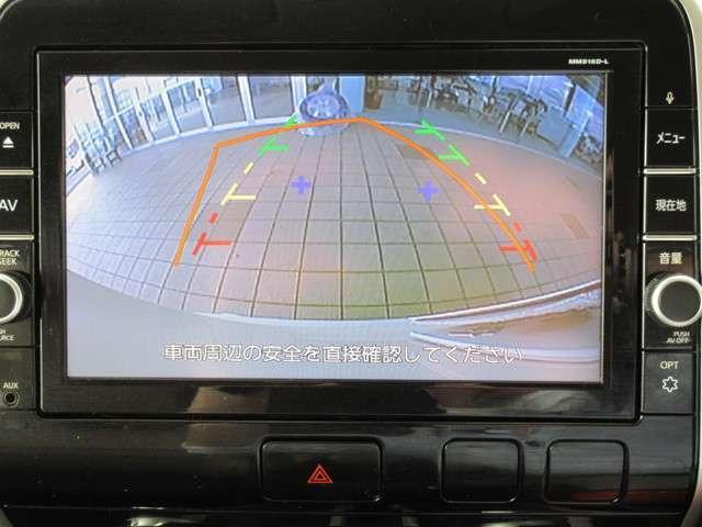 バックビューモニターは進路予測機能付なので安心ですね(^^)/