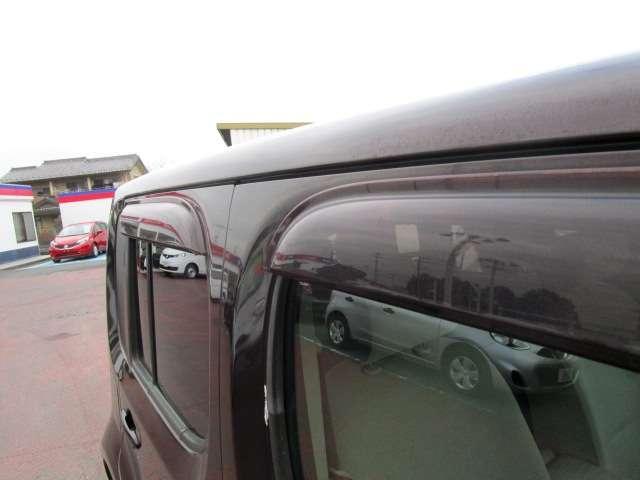 サイドビューをさらに洗練。雨天時にも窓を少し開けて車内換気が可能に。