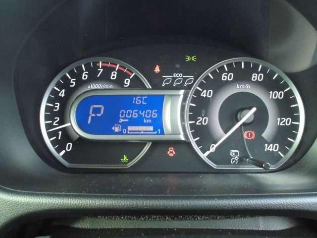 ◆ファインビジョンメーター◆エコドライブインジケーター&燃費機能付き!燃費のよいアクセルペダル操作を判断して木の葉が増減します。数が多いほど良好です!