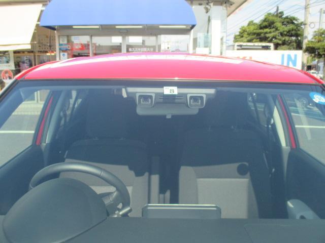 フロントガラス上部に衝突被害軽減ブレーキシステム