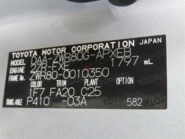 お車の様々な情報がこのプレートでわかります。