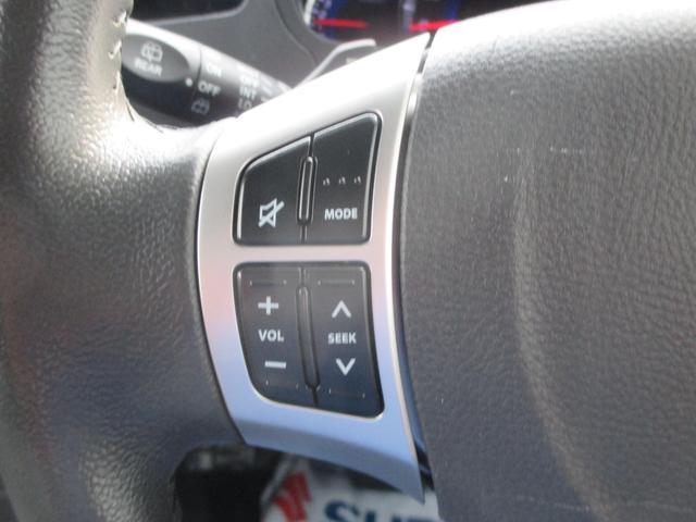 ステアリングオーディオスイッチ。直接、オーディオのボタンを押さなくても操作可能です。
