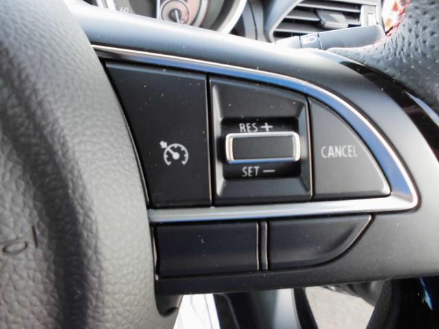 クルーズコントロール。ボタンで速度を設定し自動的に速度維持しながら走行できます。