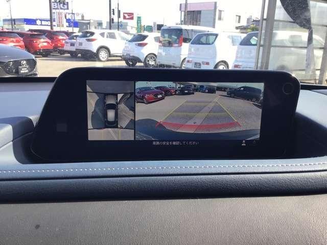 360°ビューモニターついていますので、見切りの悪いところでも、運転の苦手な方でも安心です。