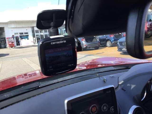 最近の流行ですよね。ドライブレコーダー付いてます。