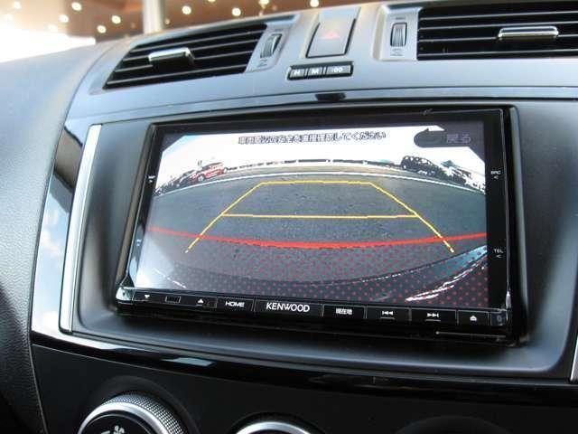 バックカメラ付で駐車時も安心
