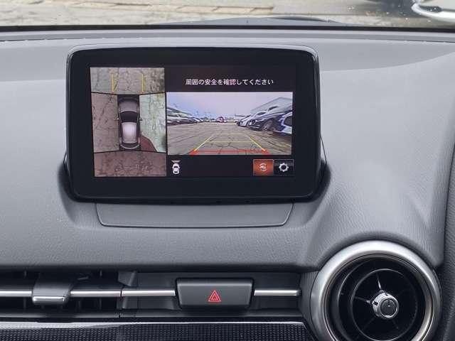 360°モニター付きで駐車時も安心♪