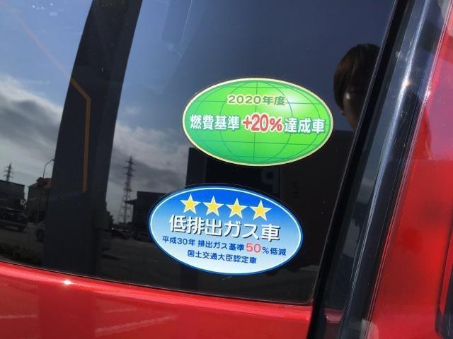『2020年度 燃費基準+20%達成車』&『平成30年排出ガス基準50%低減』