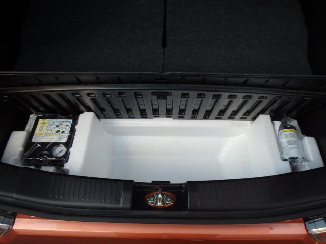 省スペース、省資源のためスペアタイヤを無くし、パンク修理キットを搭載★