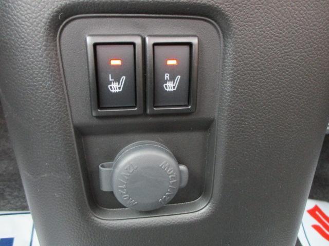 フロントシートはヒーター機能付き。寒い時期は嬉しい機能です。