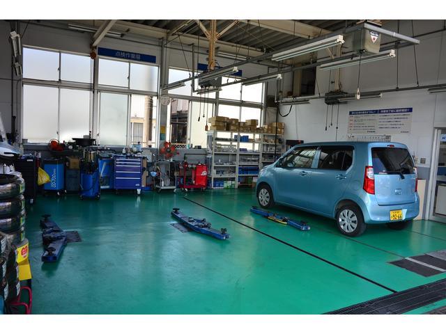 納車のお車の整備・点検はコチラで行われます。安心のスズキディーラーサービスです!!