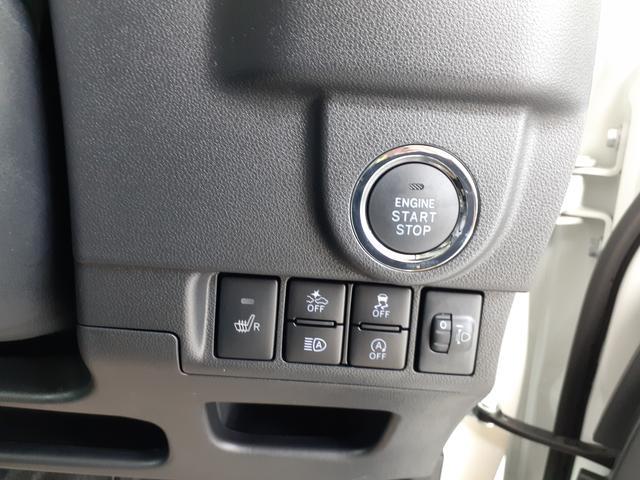 プッシュ式ボタンで楽々エンジンスタート。
