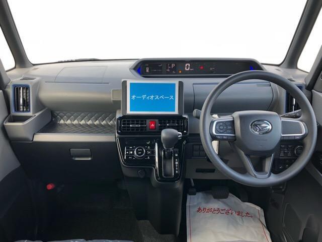 カスタムX 届出済未使用車・両側電動スライドドア・プッシュボタンスタート・ステアリングスイッチ・コーナーセンサー・アルミホイール・バックカメラ・キーフリーシステム・オートエアコン・パワーウィンドウ(2枚目)