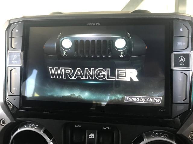 クライスラー・ジープ クライスラージープ ラングラーアンリミテッド サハラ純正ナビバックカメラETC車載器新車保証