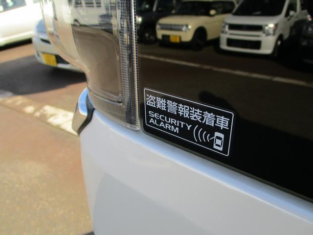 盗難警報装置付きです。