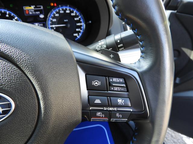 オートクルーズの車速や車間距離などの細かい設定はハンドル右のスイッチで行えます。