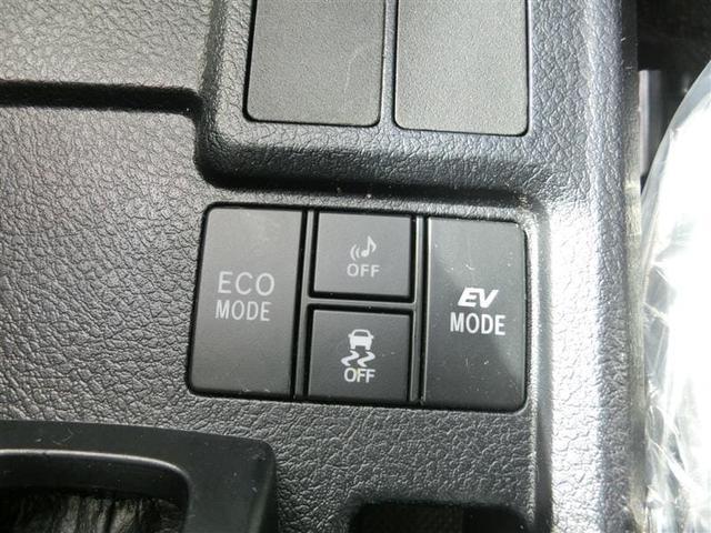左/ECOモード・・・燃費を向上させる走行に適してます。・・・・・右/EVモード・・・・駆動用電池から電力を供給し電気モーターのみを使って走行するモードです。
