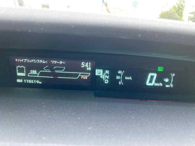 メーターも見やすく燃費なども簡単に確認できます