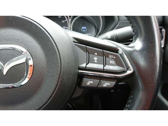 レーダークルーズコントロールを装備。アクセルやブレーキを操作しなくても、自動で先行車との車間距離を保ち追従走行できます。長距離や高速道路を運転する際に、ドライバーへの負担を軽減します。