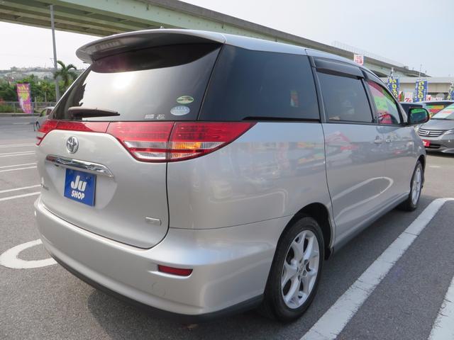 トヨタ エスティマ G HDDナビTVフリップダウンモニター 新品タイヤ4本付き