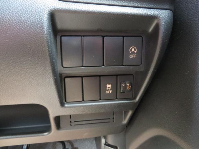 運転席ドアパネル、右側です、エコ・アイドリングストップON、OFFスイッチ、横滑り防止スイッチ、ヘッドライト光軸調整、その他。