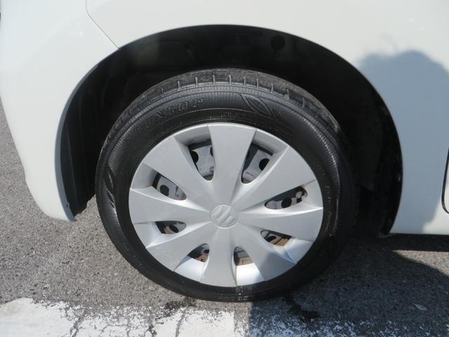 フロント:純正14インチホイールに新品タイヤ4本交換します。