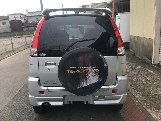 ダイハツ テリオスキッド カスタムL 背面タイヤ 純正アルミホイール フォグライト