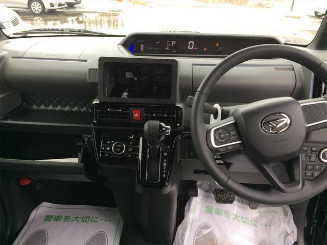 カスタムRS バックカメラ付き シートヒーター 4WD 寒冷地仕様 キーフリー 両側電動スライド ターボ 届出済未使用車 純正15インチアルミ ABS エアバッグ クリアランスソナー 軽自動車(16枚目)