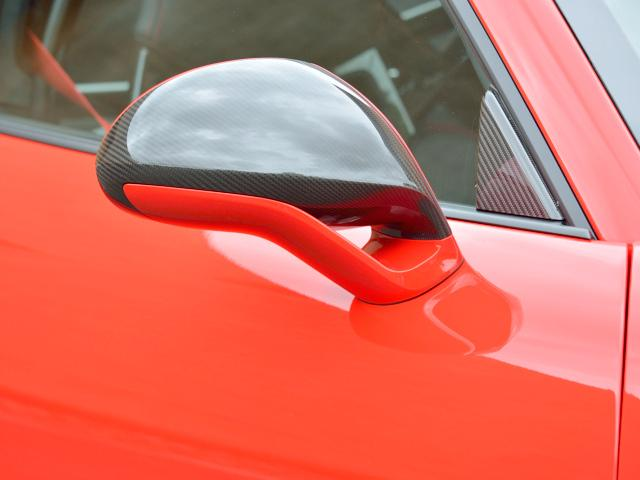 911GT3 6MT Fリフト レザーP カーボンP Clubsport package PTV Red 12 o'clock スポーツクロノ フルバケットシート ミラーカーボン ブラックデザインLEDヘッドライト(10枚目)